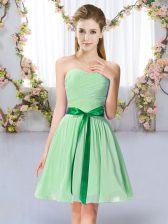 Sleeveless Belt Lace Up Quinceanera Dama Dress