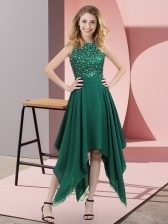 Sleeveless Beading and Sequins Zipper Prom Party Dress