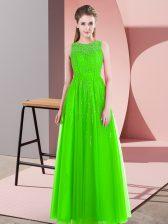 Floor Length Empire Sleeveless Prom Party Dress Side Zipper