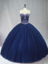 Customized Sleeveless Beading Lace Up Ball Gown Prom Dress