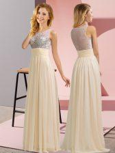 Sleeveless Beading Side Zipper Quinceanera Court of Honor Dress