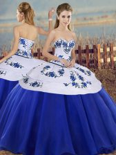 Low Price Sleeveless Embroidery Lace Up Sweet 16 Dresses
