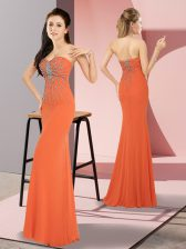 Popular Sleeveless Beading Zipper Homecoming Dress