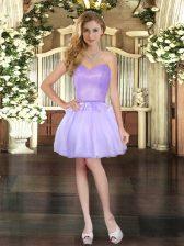 Lavender Sweetheart Neckline Beading Sleeveless Lace Up