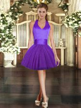 Deluxe Sleeveless Ruching Lace Up Prom Dress