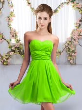 Affordable Sweetheart Lace Up Ruching Quinceanera Court of Honor Dress Sleeveless