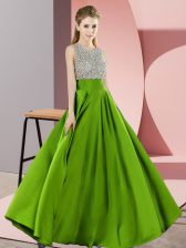 Fashion Beading Prom Evening Gown Backless Sleeveless Floor Length
