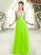 Clearance Tulle Sweetheart Sleeveless Lace Up Beading in