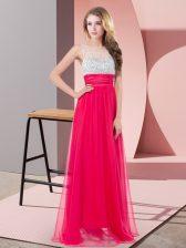 Luxury Sleeveless Side Zipper Floor Length Sequins Dress for Prom