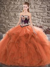 Sleeveless Beading and Embroidery Lace Up Sweet 16 Quinceanera Dress