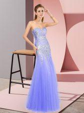 Best Selling Floor Length Column/Sheath Sleeveless Lavender Dress for Prom Zipper