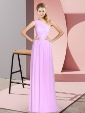 Graceful Sleeveless Ruching Lace Up Prom Party Dress