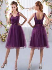 Sleeveless Appliques Zipper Dama Dress for Quinceanera