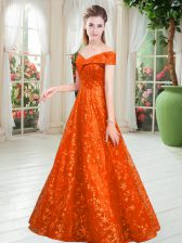 Suitable Sleeveless Lace Up Floor Length Beading Dress for Prom