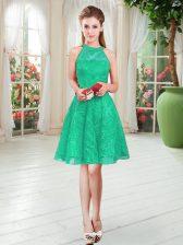 Knee Length A-line Sleeveless Turquoise Homecoming Dress Zipper
