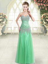 Sweetheart Zipper Beading Dress for Prom Sleeveless
