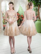 Sleeveless Beading and Appliques Zipper