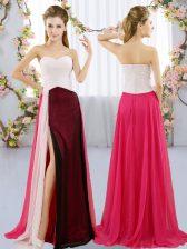 Elegant Multi-color Sweetheart Neckline Ruching Damas Dress Sleeveless Zipper