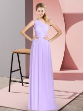 Luxurious Sleeveless Ruching Lace Up Prom Gown