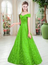 Glorious Floor Length A-line Sleeveless Homecoming Dress Lace Up