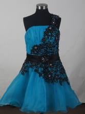 2012 Discount A-line One Shoulder Neck Mini-Length Prom Dresses Style WlX426138