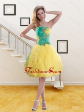 2015 Discount Strapless Prom Dresses with Embroidery and Ruching XFNAO756TZBFOR