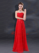 2015 Ruching Empire Prom Dresses with Belt BMT018EFOR