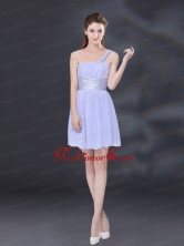 2015 Ruching and Belt Chiffon Prom Dress in Lavender BMT026CFOR