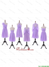 2016 Custom Made Empire Prom Dresses with Ruching in Lavender DBEES084FOR