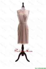 2016 Elegant Belt Short Prom Dresses with Knee Length DBEES253FOR
