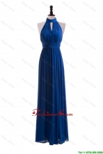 2016 Empire Halter Top Prom Dresses with Belt in Blue DBEES309FOR