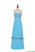 2016 Fall Empire Strapless Prom Dresses with Beading in Baby Blue DBEES092FOR