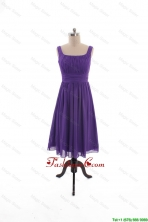 2016 Fall Perfect Square Short Prom Dresses with Belt in Purple DBEES165FOR