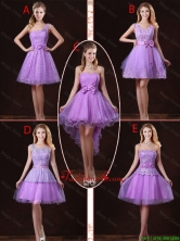 2016 Popular Laced Lilac Prom Dresses with A Line BMT058FOR