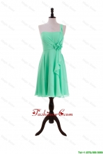 2016 Summer Apple Green Prom Dresses with Hand Made Flower and Ruffles DBEES280FOR