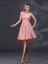 Bateau A Line Prom Dresses with Appliques and Ruching BMT028BFOR