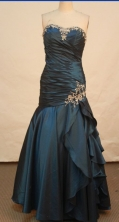 Beautiful A-line Sweetheart Floor-length Prom Dresses Appliques with Beading Style FA-Z-00147