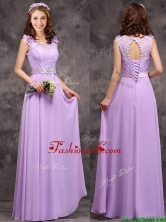 Beautiful Empire Scoop Laced Decorated Bodice Prom Dress in Lavender BMT0170DFOR