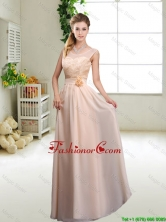 Beautiful Hand Made Flowers Prom Dresses with Column BMT045FFOR