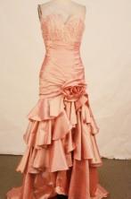 Beautiful Mermaid V-neck Brush Beading Prom Dresses Style FA-C-150