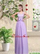 Beautiful Scoop Prom Dresses with Lace and Bowknot BMT046BFOR