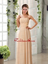 Champagne Ruching Chiffon Prom Dresses with Sweetheart BMT024FFOR