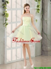Custom Made A Line Strapless Tulle Prom Dresses with Belt BMT014A-1FOR