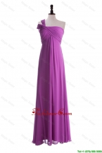 Custom Made Empire One Shoulder Prom Dresses with Ruching DBEES064FOR