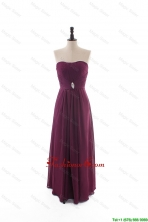 Custom Made Empire Strapless Ruching Prom Dresses with Beading DBEES194FOR