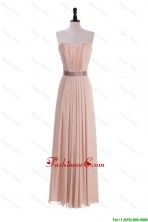 Custom Made Empire Sweetheart Ruching Prom Dresses with Belt DBEES315FOR