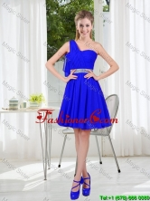 Custom Made One Shoulder Mini-length Prom Dresses in Royal Blue BMT001A-5FOR
