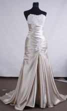 Discount A-line Sweetheart Brush Prom Dresses Appliques with Beading Style FA--00134