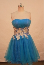 Discount A-line Sweetheart Knee-length Prom Dresses Appliques Style FA-Z-00161