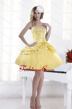 Discount Beading Strapless 2015 Prom Dresses with Pick Ups XFNAO214TZBFOR